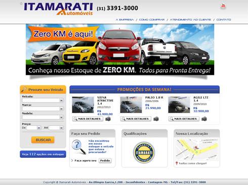 Novo site da Itamarati Automóveis